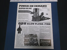 VINTAGE SHAMROCK OPS SUPER 60 RC - MAXI 30 - OPS GLOW PLUG  LITERATURE *VG-COND*