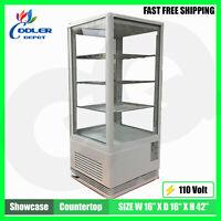 "Display Case Refrigerator 17"" Glass Pass-Through Countertop ETL NSF Cooler Depot"