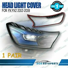 BLACK HEAD LIGHT LAMP FRONT COVER TRIM FIT FOR FORD RANGER PX2 2012-2018