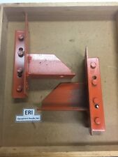 Pair Of Teardrop Pallet Rack Brackets. Orange. Used.