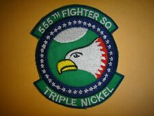 USAF Patch 555th FIGHTER Squadron TRIPLE NICKEL