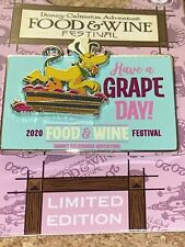 Pluto Food and Wine Pin. Dca Have a Grape Day Pluto Food Wine Festival 2020 Le