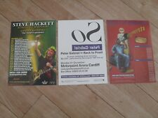 GENESIS - 3 diff. tour flyers PETER GABRIEL, MIKE RUTHERFORD, STEVE HACKETT