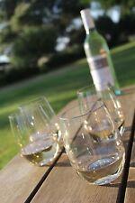 Stemless plastic wine glasses x 8 - Elegant, unbreakable, dishwasher safe