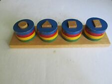 Vintage Wooden Toys - Shapes And Colors