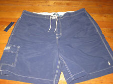 NWT POLO RALPH LAUREN MENS  B & T 2XL SEWN NAVY  CARGO  SWIM SHORT TRUNKS $75