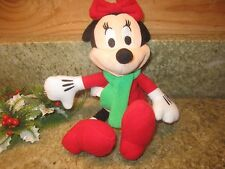 Disney Minnie Mouse Christmas Holiday Plush Toy 10 inch