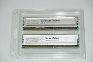 "Super Talent 512 MB DDR 333 RAM Module ""PAIR"" for 1 GB RAM"