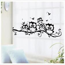 Large Vine Flower Owl Wall Art Decal Vinyl Sticker Removable Kids Home Mural WT