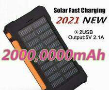 BRAND NEW! Waterproof Solar Power Bank 20000000mAh With 2USB Outputs LED