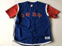 Vintage True Fan MLB Chicago Cubs Button Down Baseball Jersey RARE