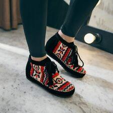 Womens Bohemian Ankle Boots Multi-color Flower print Tassels Fringe Hidden Heel