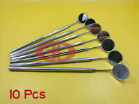 10 Dental Mouth Mirror Handle With Mirror #4 German Quality Dental Instrument GD