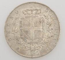 Italia 5 lire 1871 Vittorio Emanuele II silver coin exc++++ SPL- M080