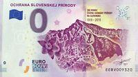 BILLET 0 EURO OCHRANA SLOVENSKEJ PRIRODY SLOVAQUIE 2019-1 NUMERO DIVERS