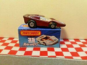 Matchbox Superfast Rola-Matics  No35 Fandango car in a Repro  Box