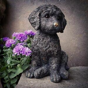 Cockapoo Puppy Dog Statue in Bronze Finish | Indoor + Garden Decoration Ornament