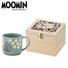 Cute Kawaii Moomin Snufkin Mug with Wooden Box from Japan