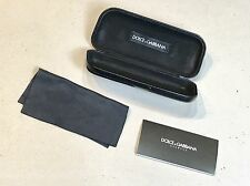 Vintage Genuine Dolce&Gabbana Sunglasses Black Case W/Papers No Glasses