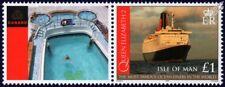 QUEEN ELIZABETH 2 (QE2) Cunard Ocean Liner Ship Stamp & Smiler 4 Swimming Pool