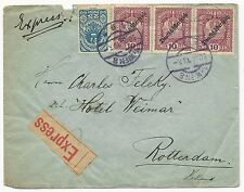 Austria Scott #184 x2 #209 on Express Mail Cover 1919