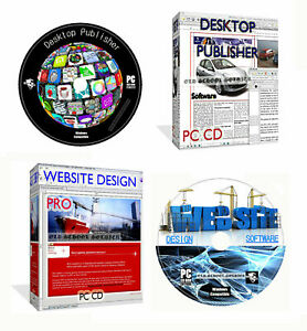 Desktop Publisher Web Builder + Website Design Suite Web Page Creating PC CD