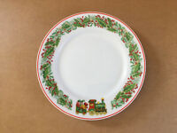 "Vista Alegre CHRISTMAS MAGIC Train 8-1/4"" Dessert Pie Plate - Fine Porcelain"