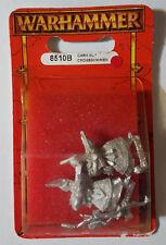 Games Workshop Warhammer Dark Elf Crossbowmen 8510B 1997 - METAL MIB OOP