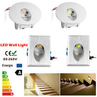 Round Rectangle Recessed Led Wall Step Floor Light Stair Landscape Lamp Lighting