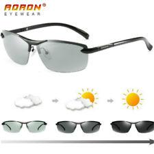 Men's Polarized Photochromic Sunglasses UV400 Driving Transition Lens Sunglasses