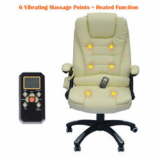 HOMCOM Heated Vibrating Massage Executive Office Chair High Back Remote Control