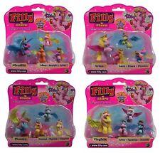Dracco Filly Glitzer Stars 4er Spiel Set Mutter mit 3 Kindern Sammlung Neu Figur