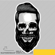 Hipster Style Skull Hair Barber Bea Vinyl Sticker Decal Window Car Van Bike 2168