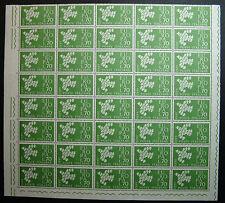 1961  ITALIA 70  lire  Europa   blocco 40 valori  MNH**