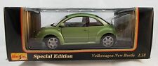 Maisto Volkswagen New Beatle Olive Green - 1:18  Diecast Mint in Box V04