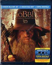LO HOBBIT UN VIAGGIO INASPETTATO 3D - EDIZIONE SPECIALE 4 BLU RAY DISC  NUOVO!