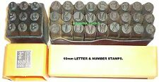 LETTERS & NUMBERS METAL PUNCH STAMPS 10mm SIZE- BRAND NEW.
