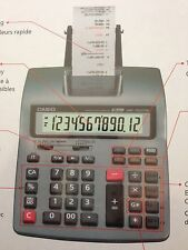 Casio Printing Calculator 12 Digits Extra Large Display with 3 Free Rolls