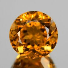 10mm ROUND-FACET NATURAL BRAZILIAN GOLDEN CITRINE GEMSTONE (APP £75)
