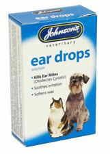 Johnsons Ear Drops Dog Puppy Cat Kitten Kills Mites Soothes Irritations Clean