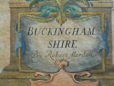 Map, Robert Morden, Buckinghamshire, 1695 - 1722, Antique Original,