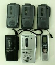 Lot of 6 Micro Cassette Players Voice Activated Memorex Radio Shack For Parts