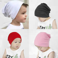 Boys Kids Soft Solid Cool Cap Beanie Toddler Infant Kids Winter Warm Cotton Hat