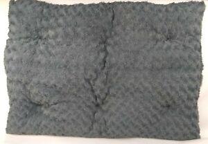 """35"""" x 23"""" Gray Dog Crate Pad/Bed Soft, Washable, Anti-Slip Bottom Medium Large"""