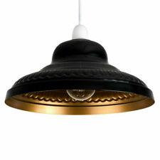 MiniSun Delta Ne 60W Pendant Lightshade - Black/Gold (21281)