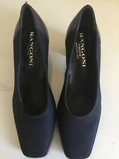 "RANGONI FIRENZE BLACK ITALIAN SHOE, SIZE 6 1/2 B  WITH 2"" HEEL"