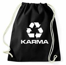 Karma Turnbeutel Recycle Logo Symbol Sportbeutel Jutebeutel Rucksack Spruch