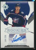 2019-20 Upper Deck Ultimate Collection Rookie Auto Alexandre Texier 164/299