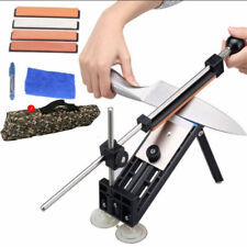New listing Knife Sharpener Kitchen Sharpening System Professional Fix Angle with 4 Stones