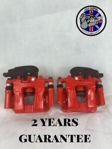O.E MANDO HYUNDAI I40 LEFT+RIGHT rear electric brake calipers 11-17 3yrs RED